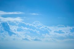 Clouds. Against a bright sky Stock Photography