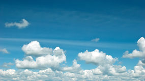 Clouds. White fluffy clouds in the blue sky Royalty Free Stock Image