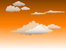 Clouds. At dawn for design Royalty Free Stock Photo