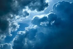 Clouds. Dramatic sky with dark clouds Royalty Free Stock Images