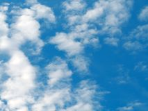 Clouds. White clouds in the blue sky Royalty Free Stock Photos