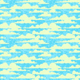 Clouds. Seamless blue texture with clouds Royalty Free Stock Photography