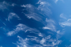Clouds. Sky blue plane view Royalty Free Stock Image