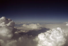 CLOUDS. Cumulus Clouds, view from airplane Stock Photos