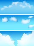 Clouds. Three various lovely illustration clouds Stock Image