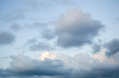 Clouds. Cape  in the evening Royalty Free Stock Photo
