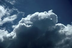 Clouds. Storm front moving into the area Royalty Free Stock Photo