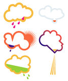 Clouds. Symbol elements for weather, clouds Stock Photography