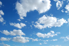 Clouds. Day of summer with white clouds and blue sky Royalty Free Stock Image