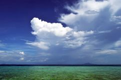 Clouds above the Andaman Sea in Krabi. Clouds above the Andaman Sea, off Tup island, province of Krabi, Thailand royalty free stock image