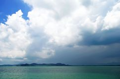 Clouds above the Andaman Sea near Rassada pier Stock Photography