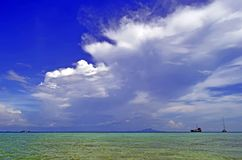 Clouds above the Andaman Sea in Krabi. Clouds above the Andaman Sea, off Tup island, province of Krabi, Thailand royalty free stock photo