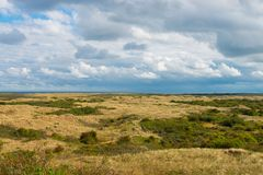 Clouds above the area Oerd of the island Ameland royalty free stock photos
