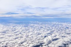 Clouds Above and Below - Aerial Clouds Stock Photo
