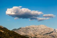Clouds above Biokovo Mountain Range, Dalmatia Stock Photography