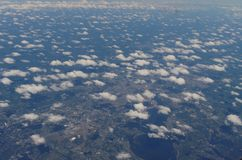 Clouds from above. Cloud cover Royalty Free Stock Photography