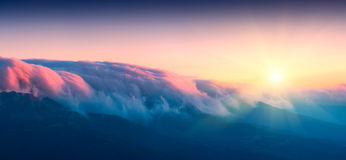 Clouds above Haphal Royalty Free Stock Image