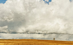 Clouds above land. Stock Photos