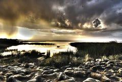 Clouds above Langano Lake, Ethiopia royalty free stock images