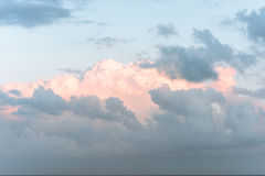Clouds above the mediterranean sea Royalty Free Stock Photography