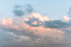 Clouds above the mediterranean sea Royalty Free Stock Photo