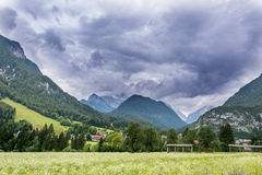 Clouds above mountain Royalty Free Stock Photo