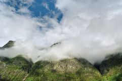 Clouds above mountains. Royalty Free Stock Image