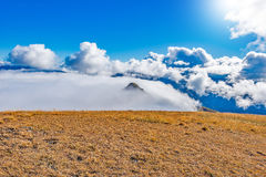 Clouds above the mountains. Stock Photography