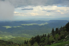 Clouds above the mountains in North Carolina Royalty Free Stock Photography