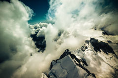 In clouds above New Zealand Stock Photos