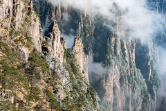 Clouds above the peaks of Huangshan National park. Stock Photography