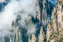 Clouds above the peaks of Huangshan National park. Stock Images