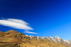 Clouds above the Remarkables Mountain Stock Images