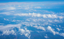 Clouds from Above. Clouds Scattered around the Sky from Above Royalty Free Stock Photos