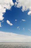 Clouds above sea. Royalty Free Stock Photography