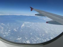 Clouds Above the Sky in Aeroplane Royalty Free Stock Photos