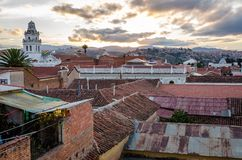 Clouds above Sucre timelapse stock video