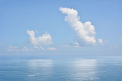 Clouds above a surface of the sea Royalty Free Stock Photography