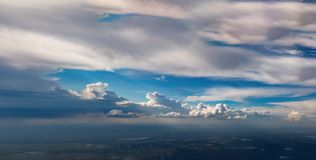Clouds above the swamp, top view Royalty Free Stock Image