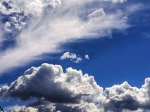 Clouds above us sky has no limits royalty free stock photo