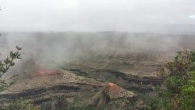 Clouds above Waimea Canyon on Kauai Island, Hawaii. stock footage