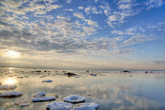 Free Clouds Above Winter Sea Royalty Free Stock Photos - 10081608