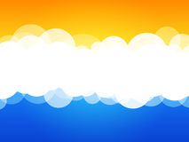 Clouds abstract background. Modern simple clouds abstract background Royalty Free Stock Photo