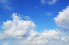 Clouds abstract background polygon. stock illustration