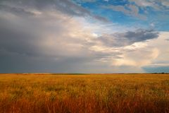 Clouds across the plains Royalty Free Stock Images