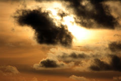 Clouds across the sun. With a dark touch Stock Image