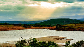Clouds of Addo. Addo is a town in Sarah Baartman District Municipality in the Eastern Cape province of South Africa. Region east of the Sundays River, some 72 royalty free stock photo