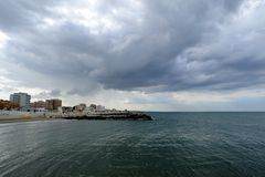 Clouds. Adriatic Coast, Misano Adriatico, Emilia Romagna, Italy stock photo