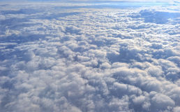 Clouds aerial view from airplane window Stock Images
