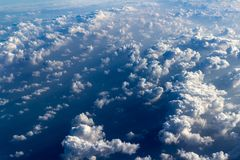 Clouds aerial view Royalty Free Stock Images
